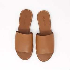 Madewell Shoes - NEW Madewell Brown Leather Slides Size 9